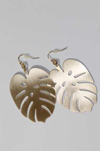 Earrings - Gold Leaf