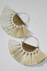 Earrings - Ivory and Gold