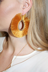 Earrings - Burnt Mustard
