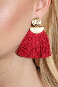 Earrings - Holiday Red and Gold