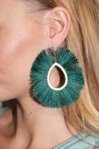 Earrings - Emerald Green