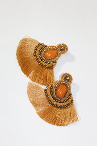 Earrings - Orange/Gold Combo