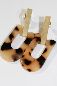 Earrings - Small Tortoise