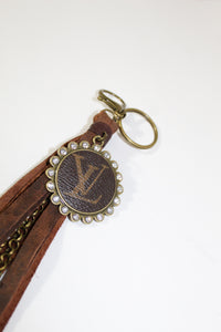 Keychain - Brown Fringe and Louis Vuitton