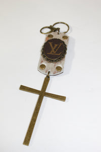 Keychain - Cowhide, Cross, and Louis Vuitton