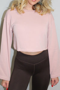 Cropped Gym Top (Pink)