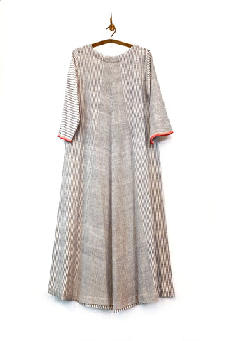 Khadi woven striped dress