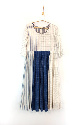 White - indigo Kallidar dress