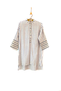 Classic pin-striped shirt tunic