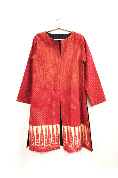 Quilted cape in  cotton-khadi