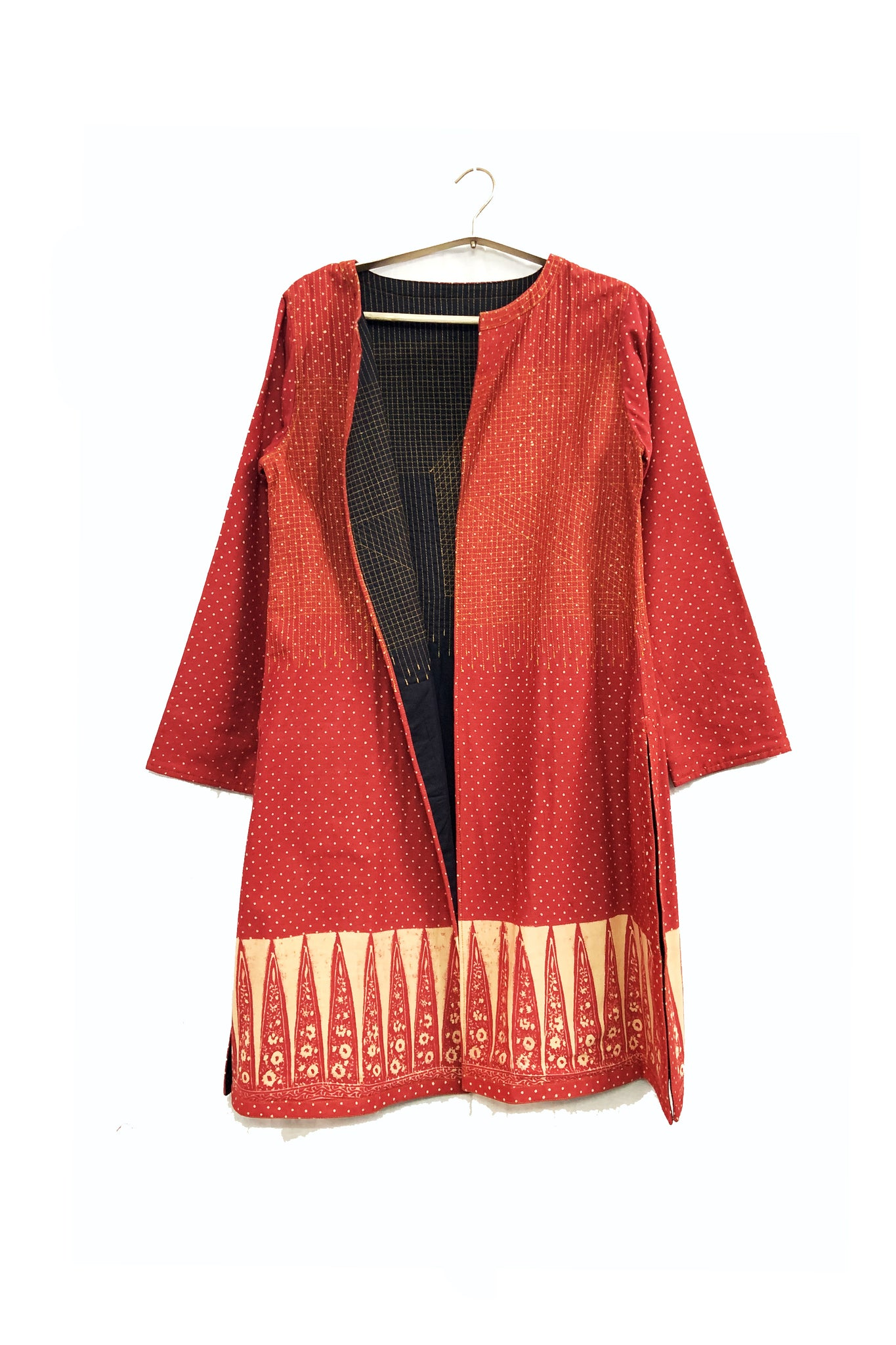Calico quilted cape