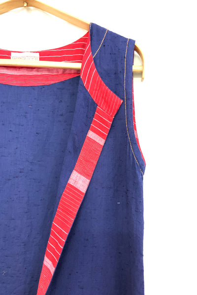 Khadi cape in upcycled patchwork