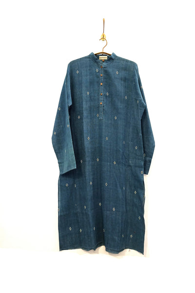 Natural dyed Kala Cotton classic kurta