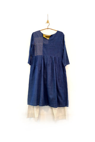 Handwoven yarn dyed dress