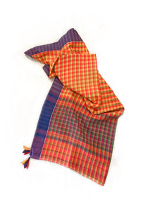 Handwoven cotton saree