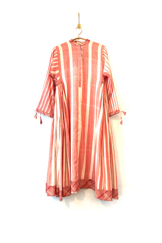 Striped muslin dress
