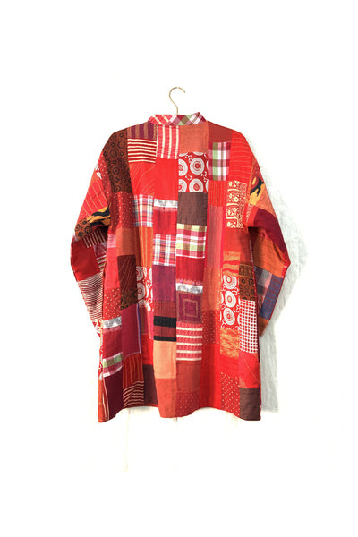 Upcycled Boro jacket in Red