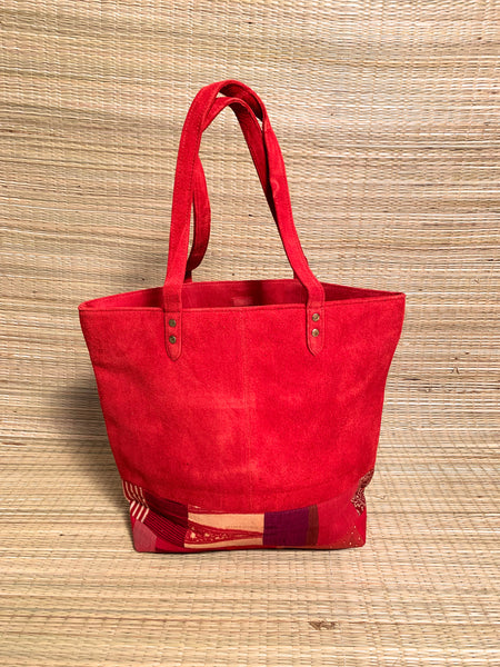 Red Suede Big Tote