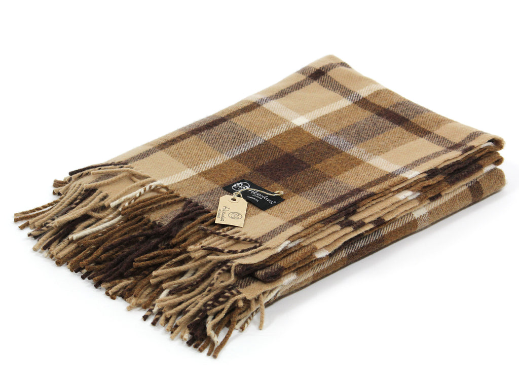 Traditional Weight Woollen Blanket - Timber Plaid