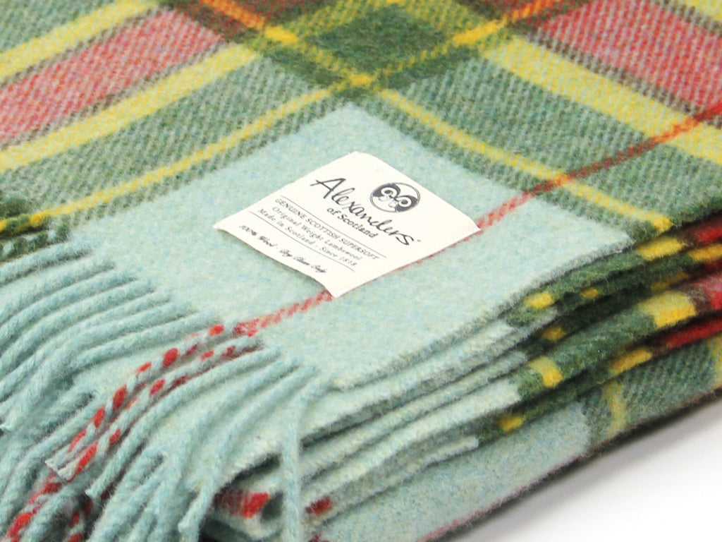 Traditional Weight Woollen Blanket - Sunset Plaid