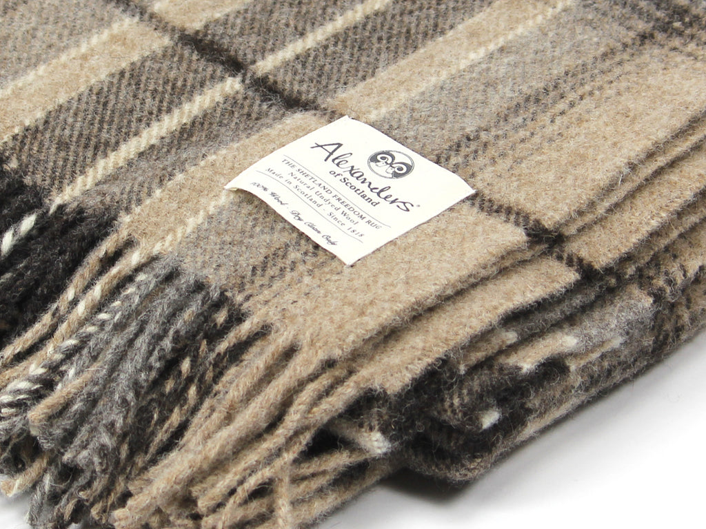 Traditional Shetland Blanket - Natural Undyed