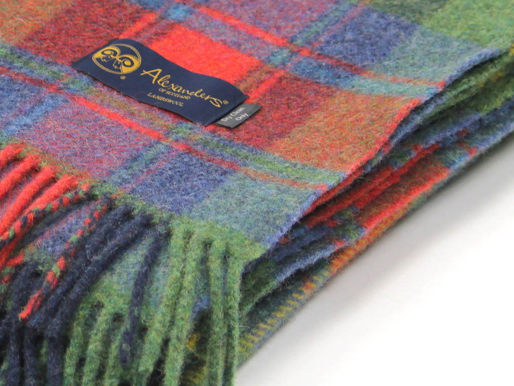 Traditional Weight Woollen Blanket - Cosy Highland Plaid