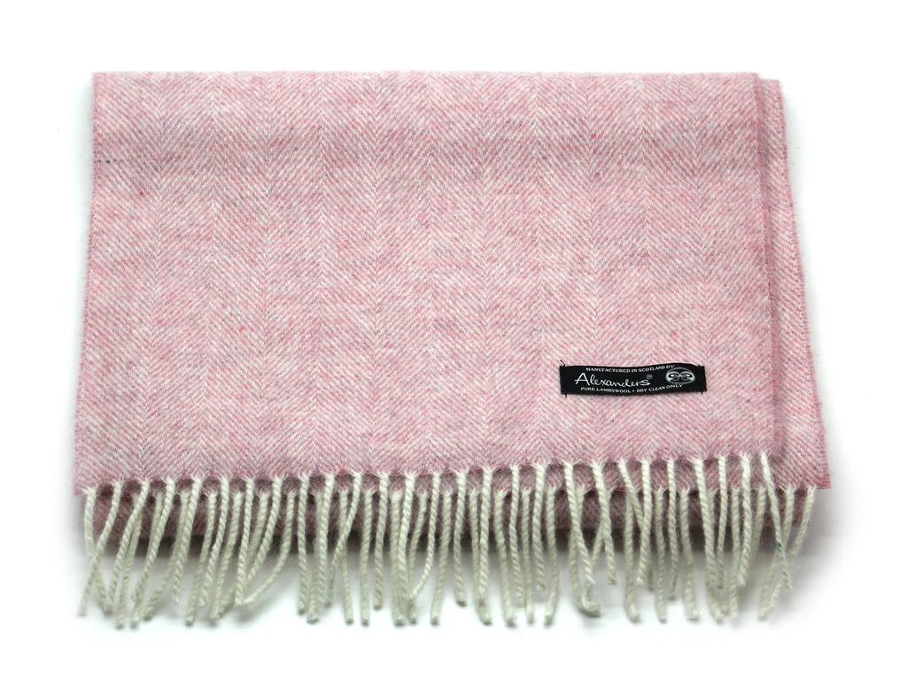 Herringbone Blanket Scarf - Heather Orchid