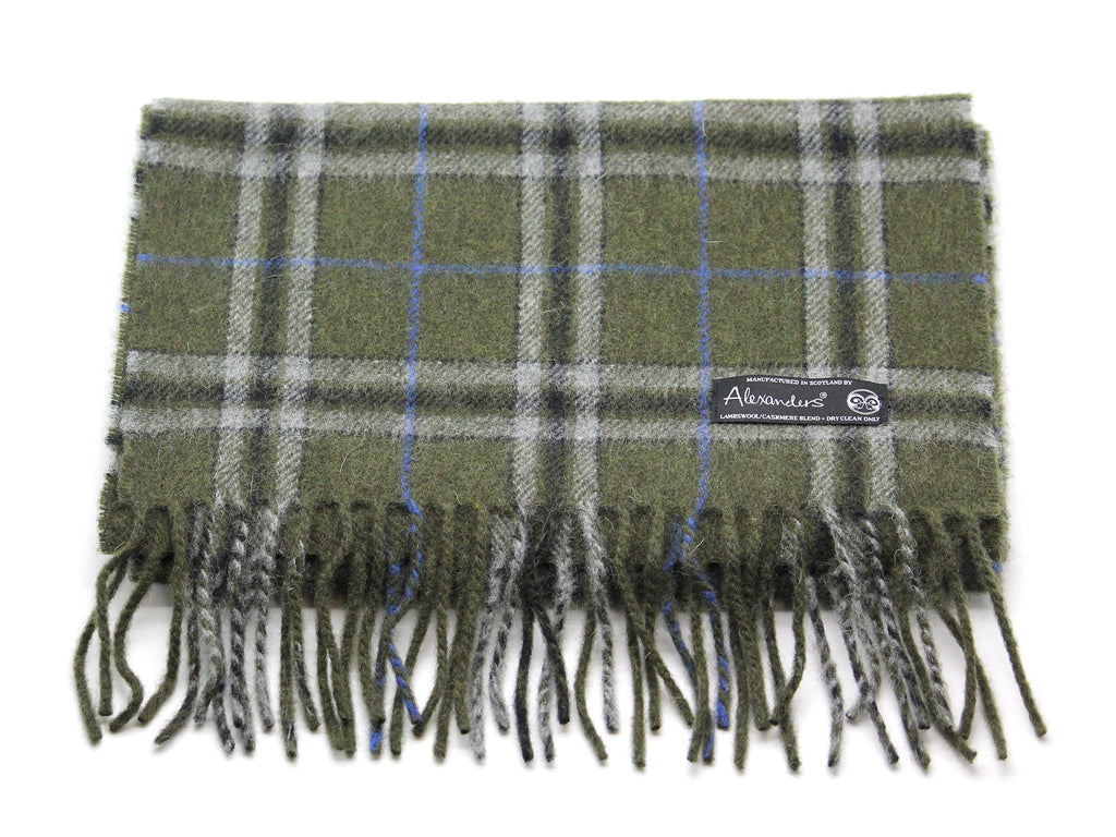 Lambswool/Cashmere Blend Scarf - Forester Plaid