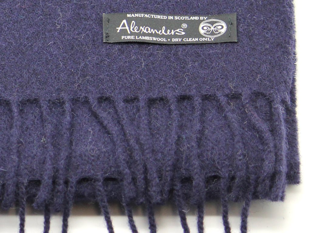 Plain Navy Lambswool Scarf