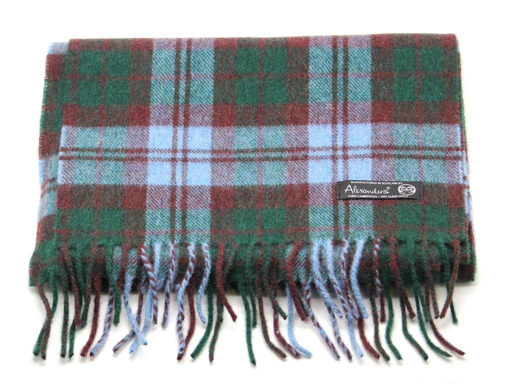 Antique Black Watch Tartan Lambswool Scarf