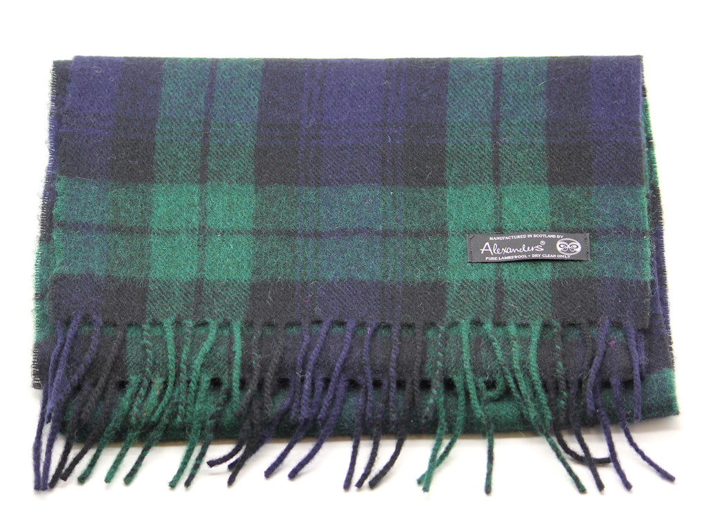 Black Watch Tartan Lambswool Scarf