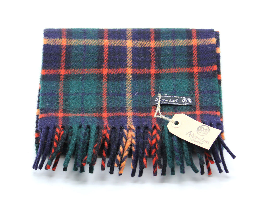 Cosy Blanket Scarf - Orange Plaid