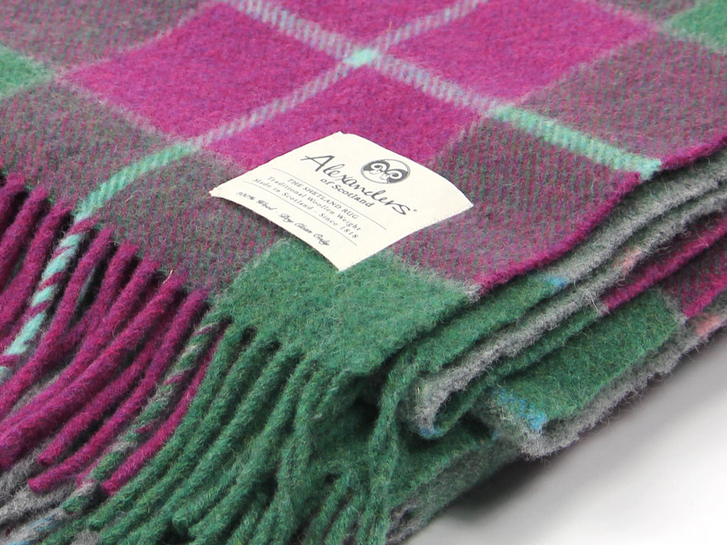 Traditional Shetland Blanket - Pink Forest