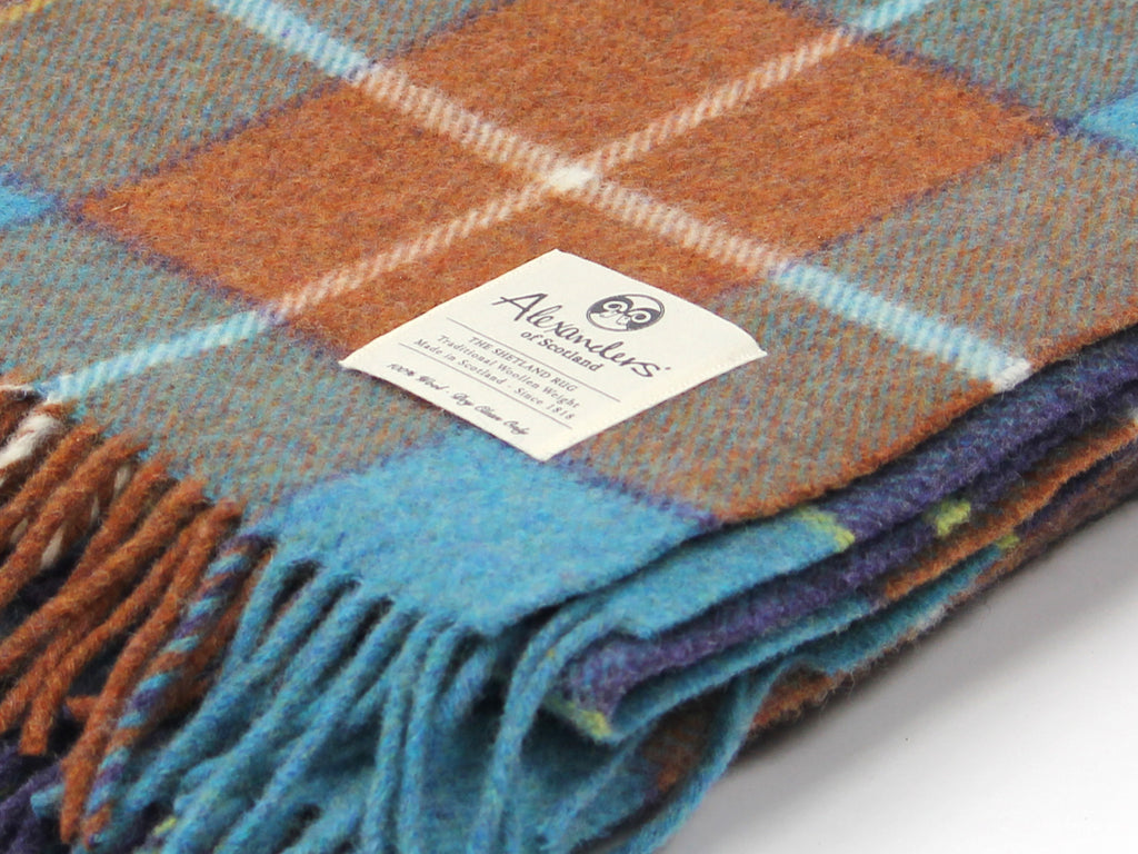 Traditional Shetland Blanket - Rusty Fishing Port