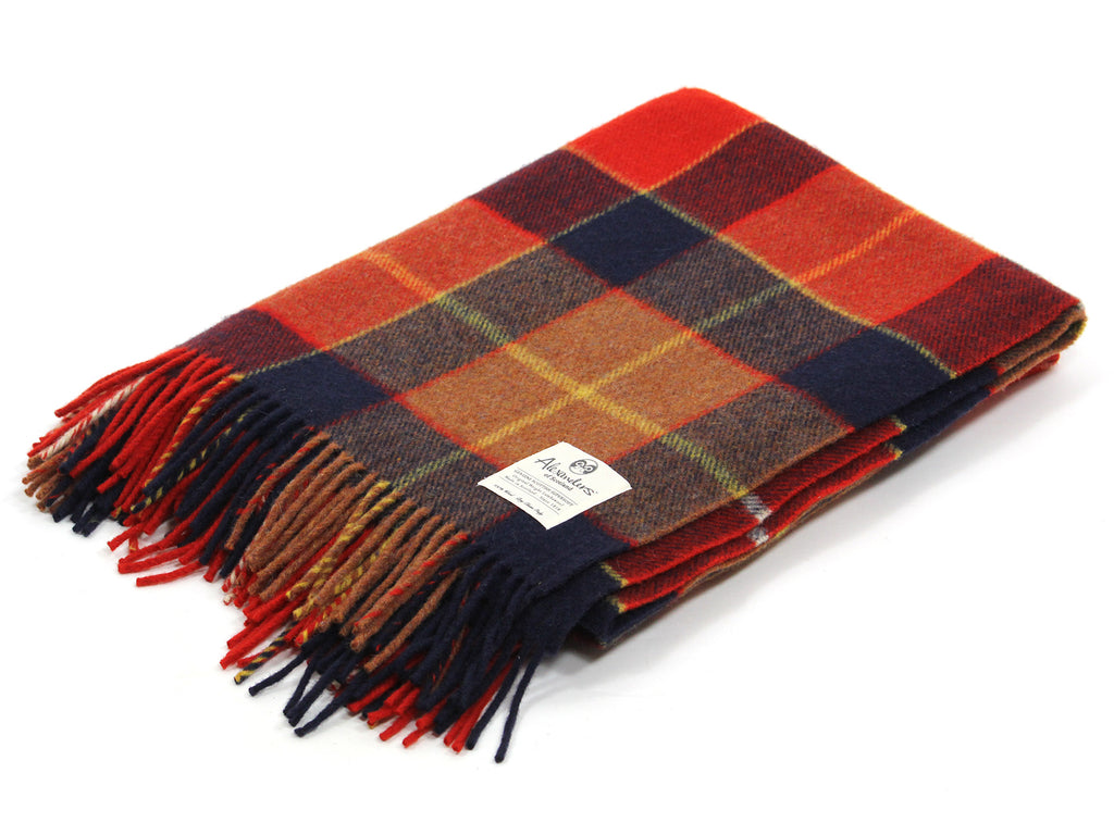 Traditional Weight Woollen Blanket - Sienna Plaid