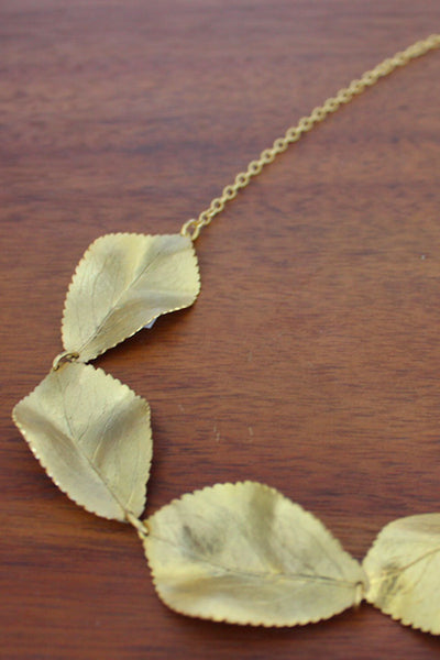 Anastasia Vintage Leaf Necklace
