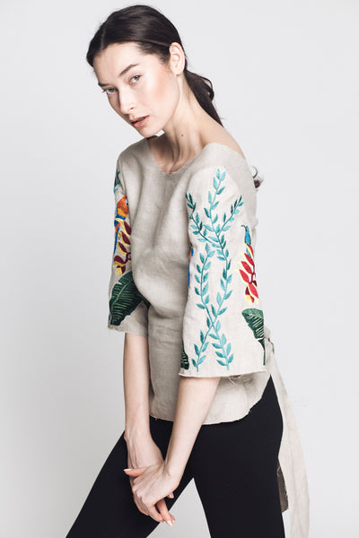 Caroline Hand Embroidered Top