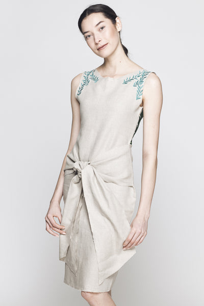Celine Hand Embroidered Shift Dress