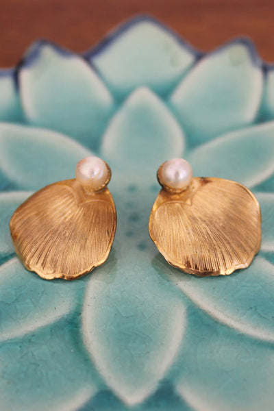 Clementine Vintage Fresh Water Pearl Earrings