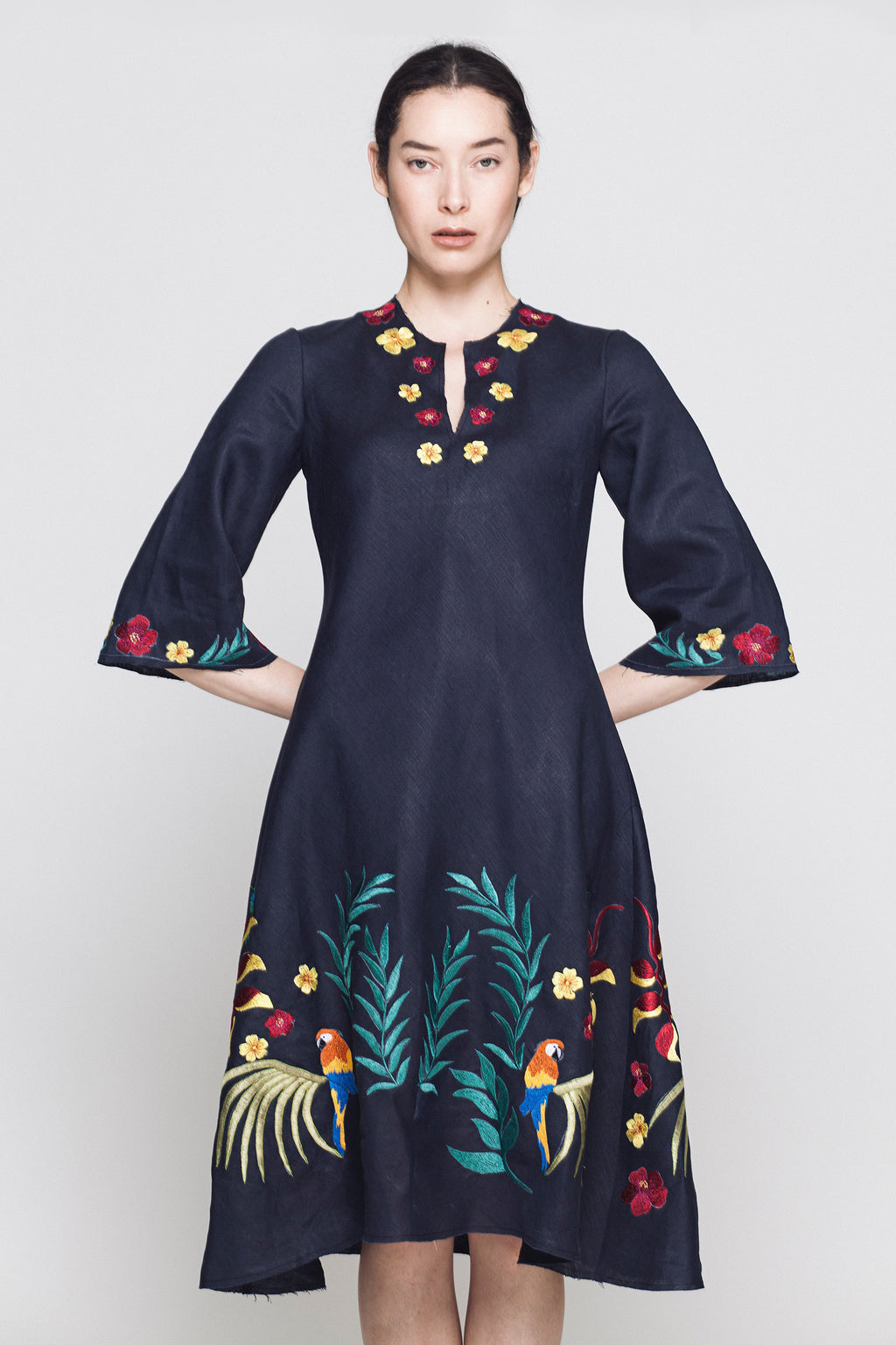 Jacqueline Hand Embroidered Shift Dress