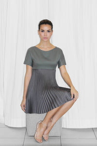 Mao Electric Pleated Dress
