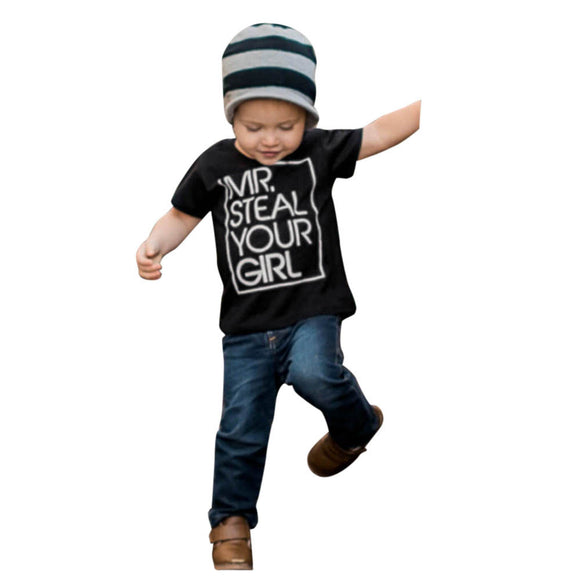 Toddler Baby Kids T-shirt Cotton Short Sleeve Summer Tops Shirts Tee