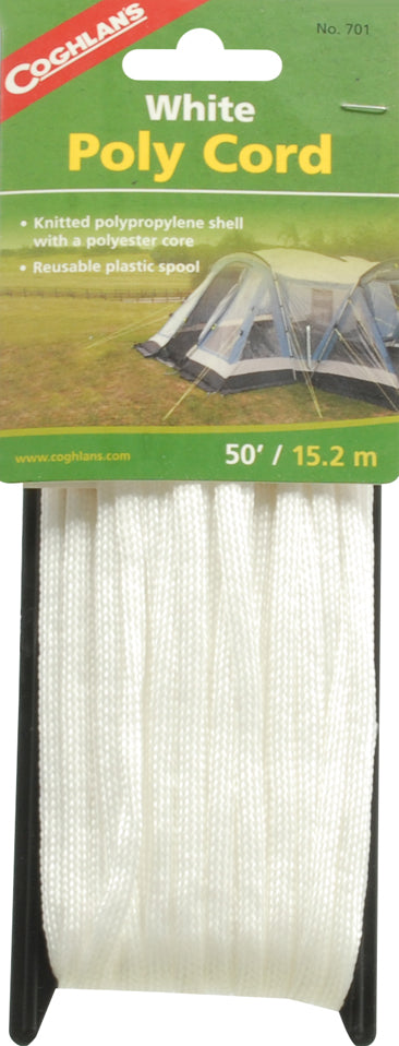 Coghlan's Ltd.  50' BRAIDED WHITE NYLON CORD