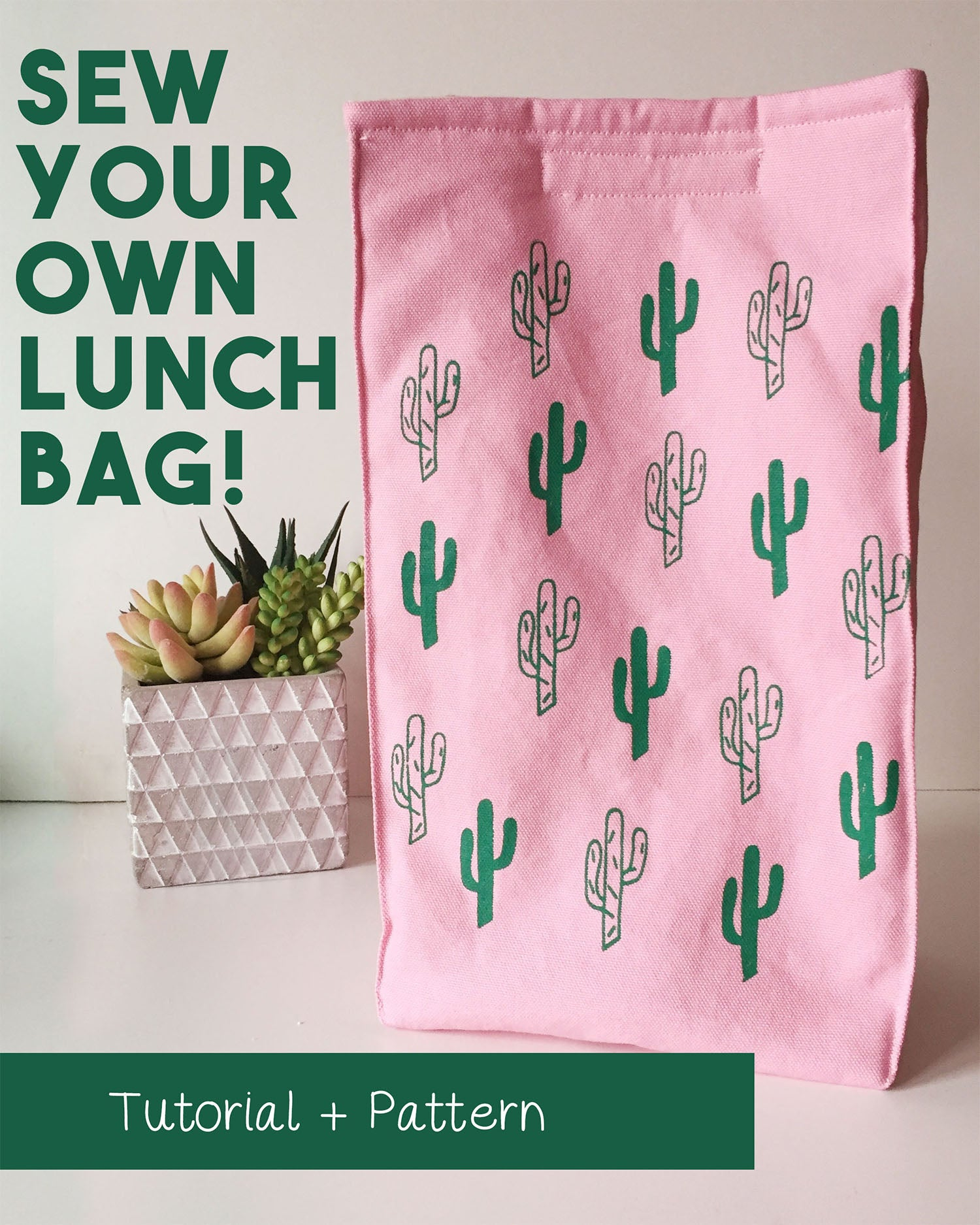 Sew Your Own Insulated Lunch Bag {TUTORIAL + FREE PATTERN}
