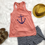 Women's Anchor Print Tank Top