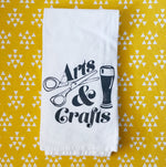 Arts and Crafts (Beer) Flour Sack Towel