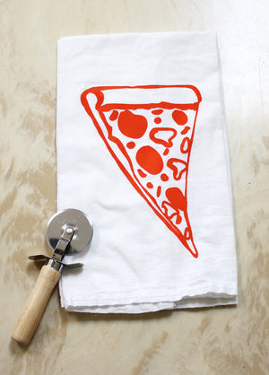 Pizza Print Flour Sack Towel