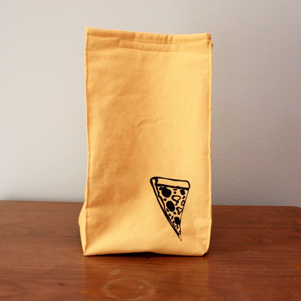 Organic Cotton Pizza Print Lunch Bag