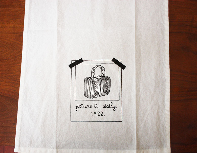Picture it, Sicily Golden Girls Inspired Flour Sack Towel