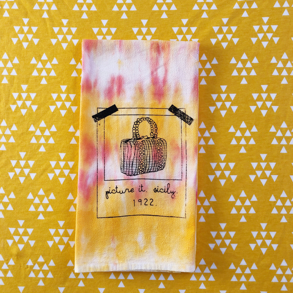 Slightly Flawed Tie-Dyed Golden Girls Inspired Towel